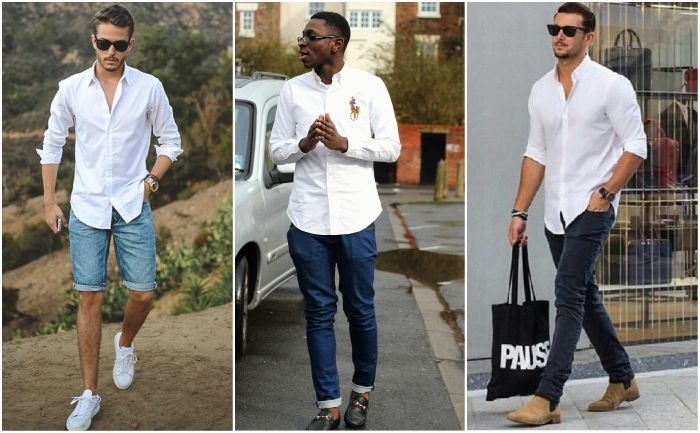 The Idle Man | White oxford shirt, White oxford shirt outfit .