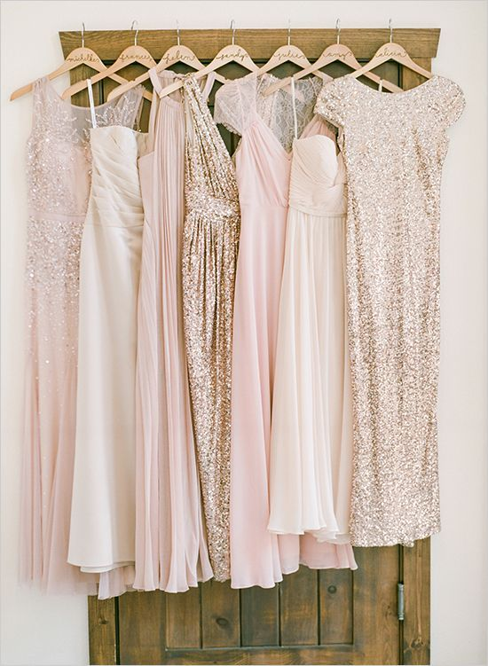 pink and gold bridesmaid dresses #pinkbridesmaid @weddingchicks .