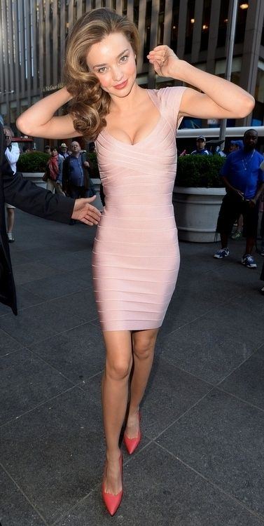 pink bandage dress supermodel