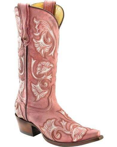 pink cowgirl boots flowers