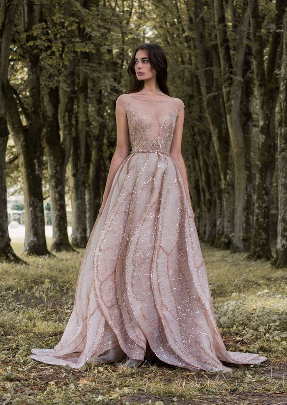Rose gold dress weddings