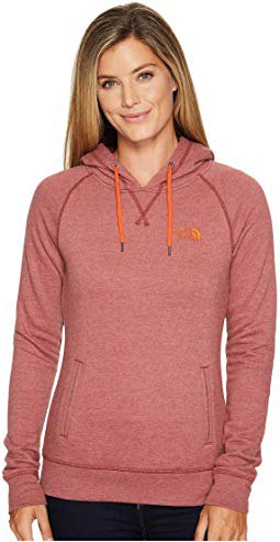pink north wall sweater with black skinny jeans