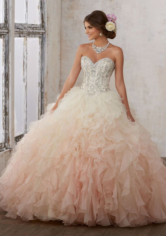 pink quinceanera dress silver