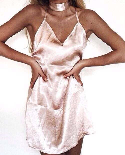 Pink Satin Dress: 14 Lovely and Chic Outfit Ideas - FMag.c