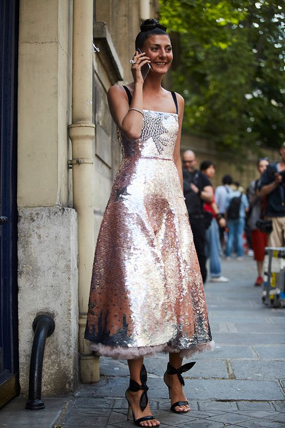 pink sequin dress midi