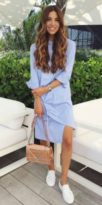 25 Simple Ways To Wear A Shirt Dress - Outfits & Ideas - Just The .
