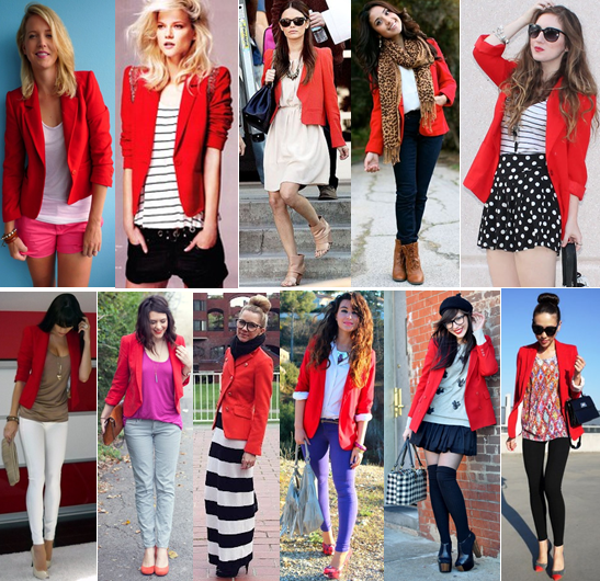Welcome - Pop of Style | Red blazer outfit, Red blazer, Wearing r