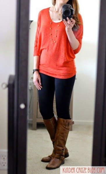 red, chunky skinny jeans