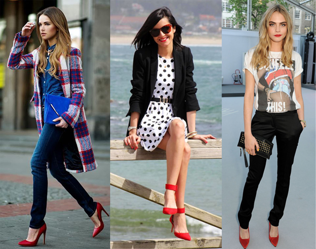 What to Wear with Red Heels in 2021? Outfit Ideas for Red Pumps .