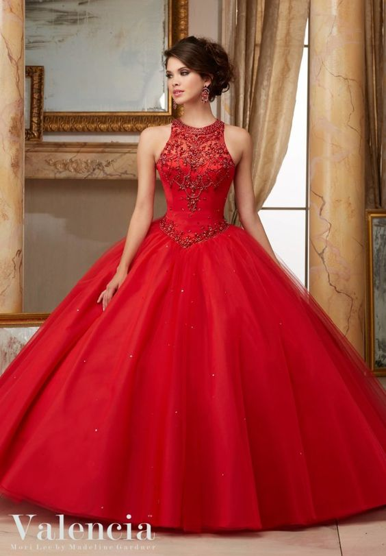 red quinceanera dress classic