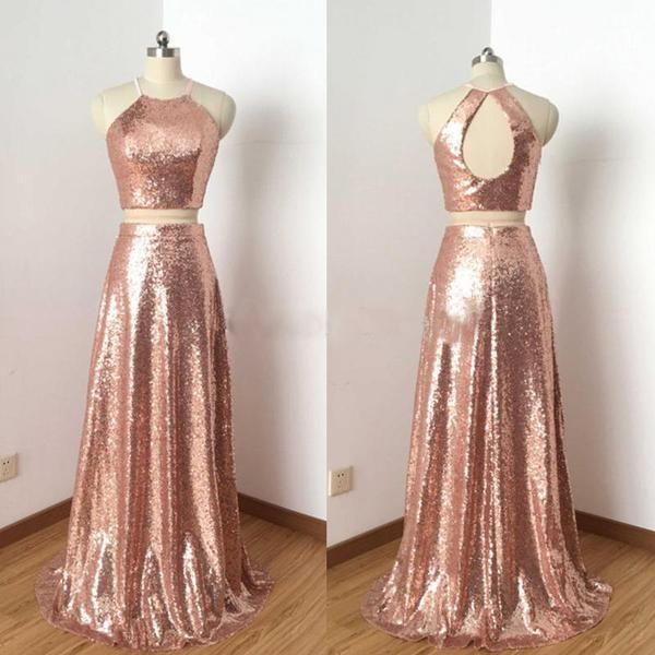 Rose Gold Prom Dresses Ideas 14 | Gold dress outfits, Gold prom .