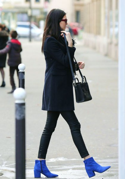 royal blue suede ankle boots