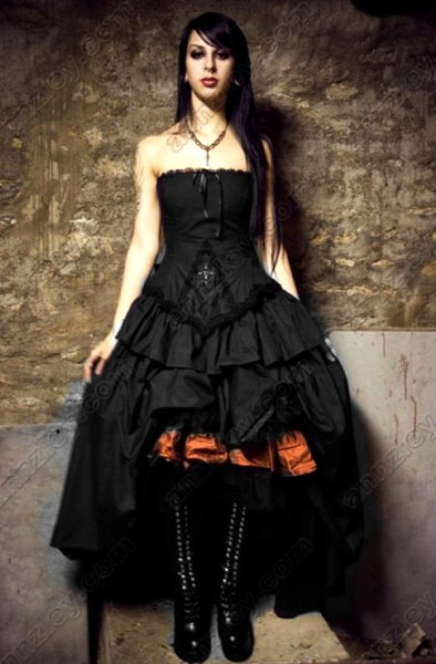 Ruffle high low maxi dress black lace-up boots in the middle of the calf