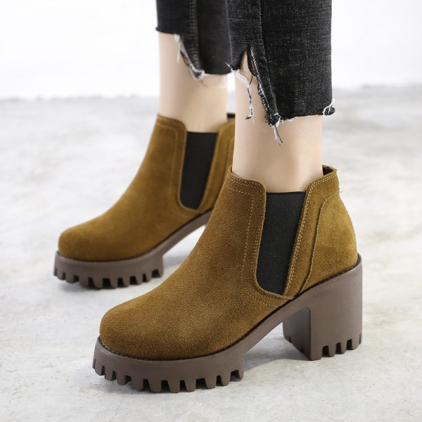 Buy Female Ankle Boots High Quality Leather Shoes Pointed Toe Mid .