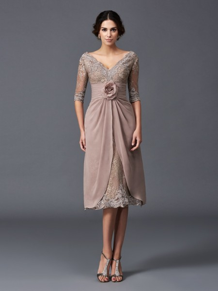 short delicate pink mother of the bride dresses