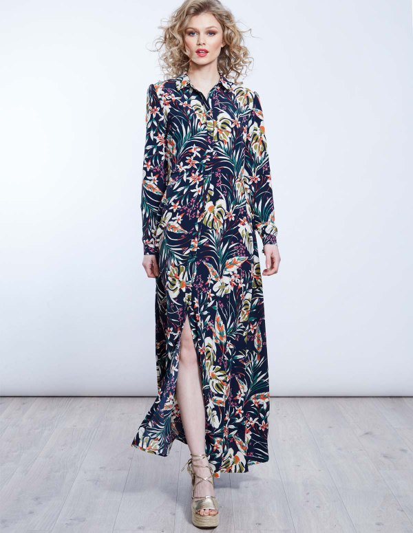 How to Wear Maxi Shirt Dress: Top 15 Breezy Outfit Ideas for Women .