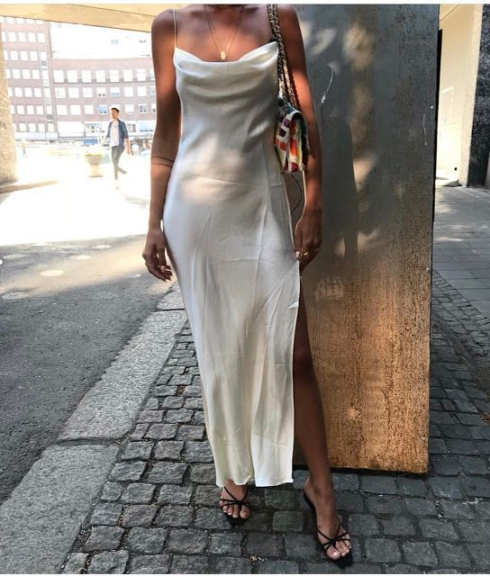 20 City Outfit Ideas for Summer | White satin dress, Fashion, City .