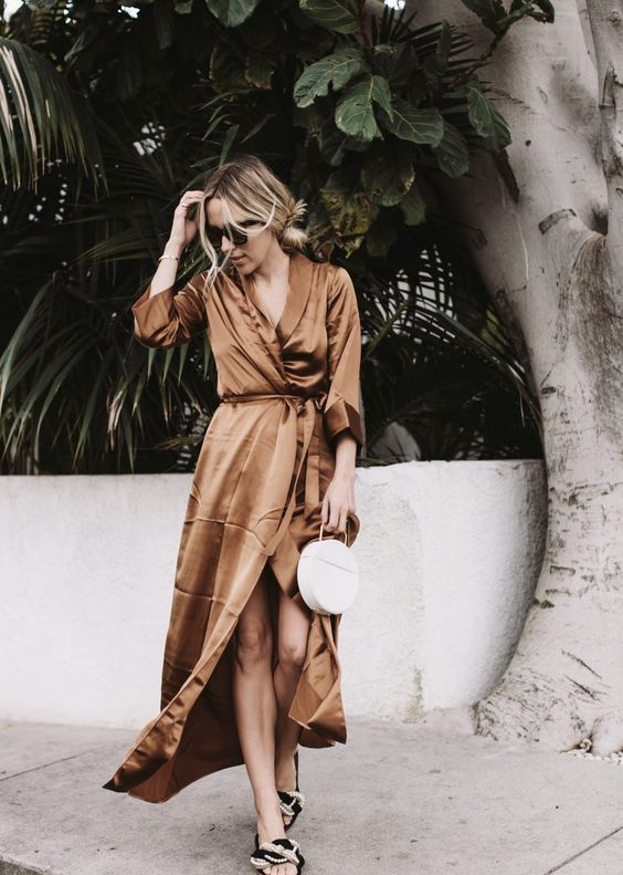 Silk Wrap Dress: 15 Chic and Trendy Outfit Ideas - FMag.c
