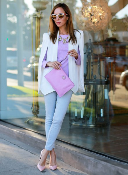 sky blue top to match skinny jeans
