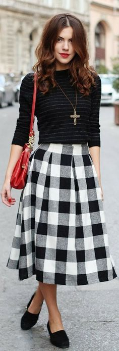 30+ Best Checkered skirt ) images | checkered skirt, fashion, outfi