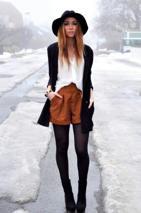 Suede Shorts Outfit Ideas 2020 | FashionTasty.c