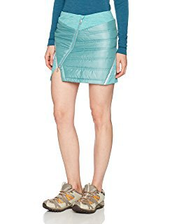 blue-green mini skirt with slit