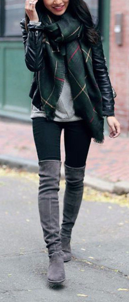 100+ Trending Women's Thigh High Boots Outfit Ideas for Fall or .