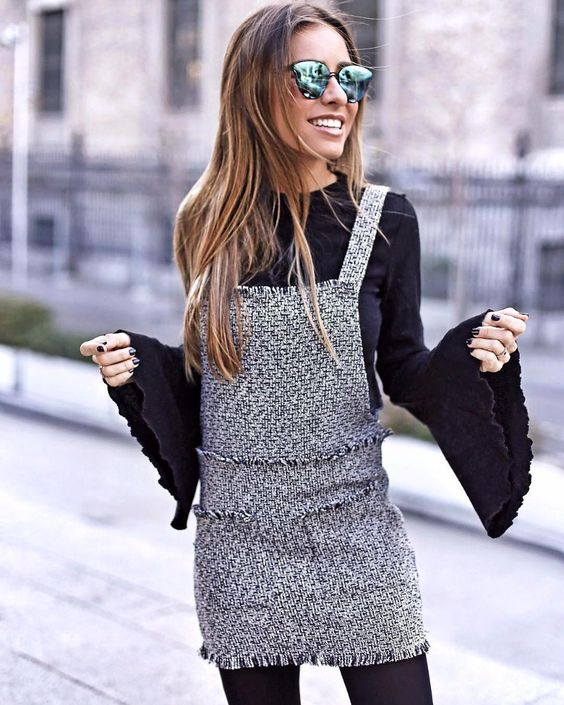 Tweed Dress: Ways to Wear it Without Looking Conservative - FMag.c