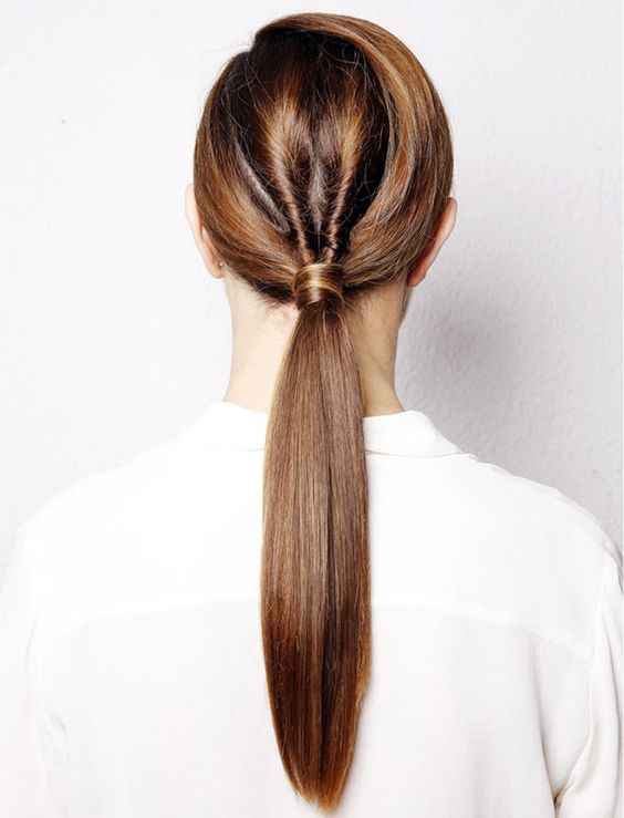 twisted ponytail hair interview