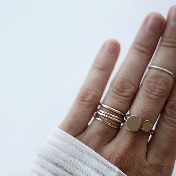 two rings of rose gold mix