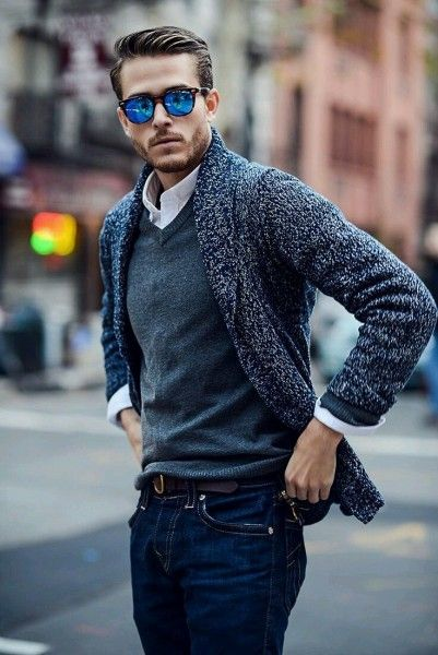 The V-Neck Sweater | Trendy fall fashion, Mens outfits, Mens .