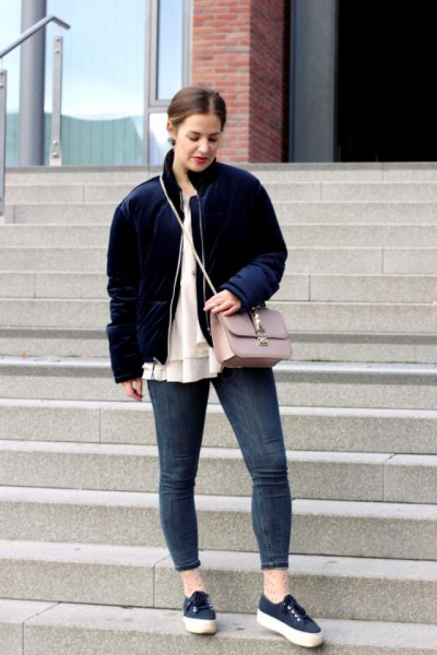 Top 13 Amazing Velvet Bomber Jacket Outfit Ideas for Ladies - FMag.c