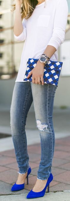 30+ Best Blue heels outfit images | blue heels outfit, blue heels .