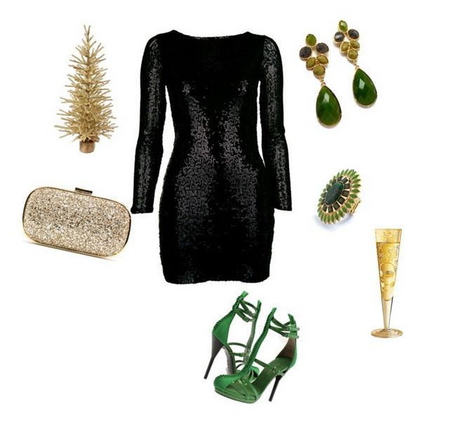 How To Wear Sequin Dresses | Black dress accessories, Sequin dress .