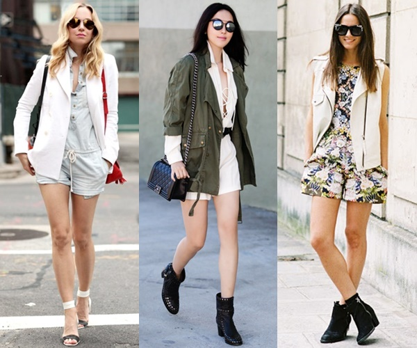 Wear a romper for the wedding with a jacket vest