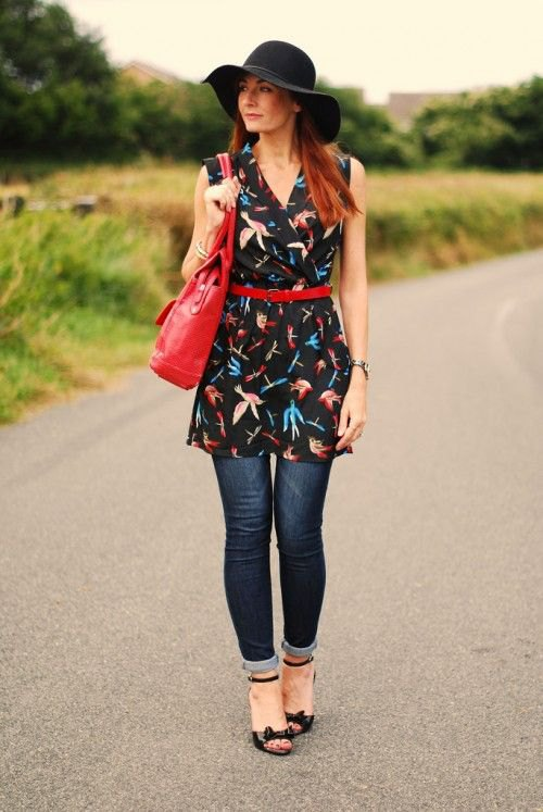 How to Wear Tunic Dress with Jeans: 15 Outfit Ideas - FMag.c