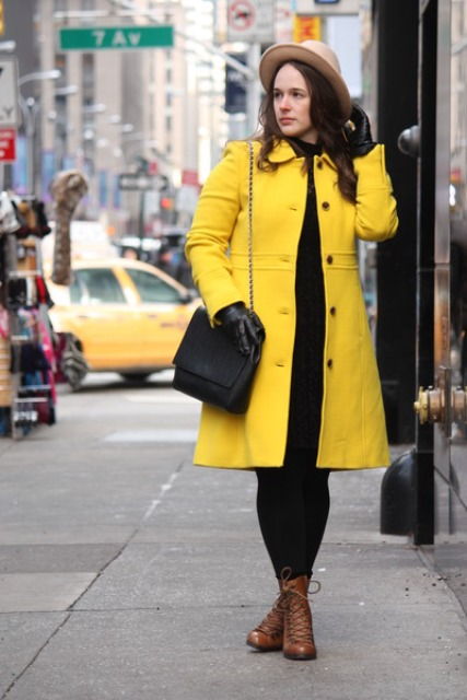 25 Stunning Yellow Coat Outfits For Fall - Styleohol