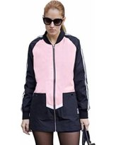 casual black printed casual sports coat with mini skirt with zip
