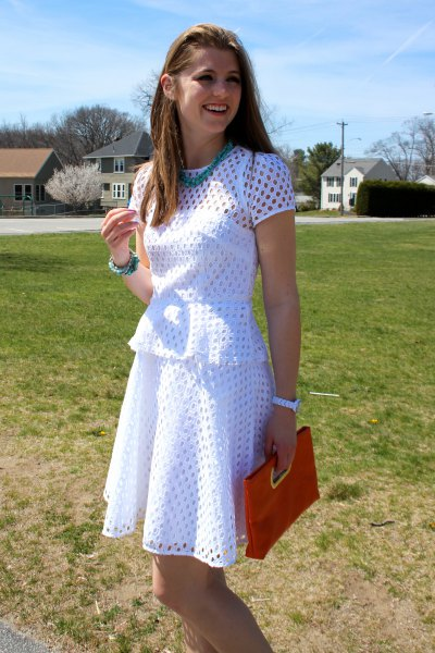 white airy dress outfit