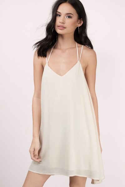 white chiffon mini dress