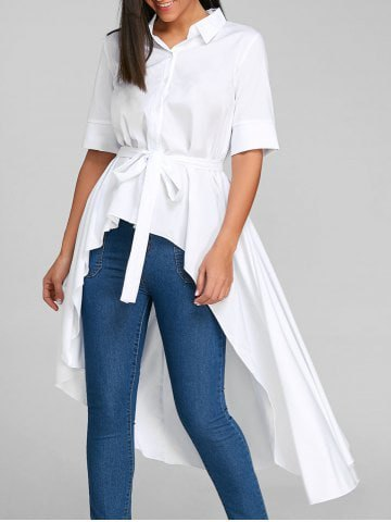 white collar shirt, high-waisted skinny jeans