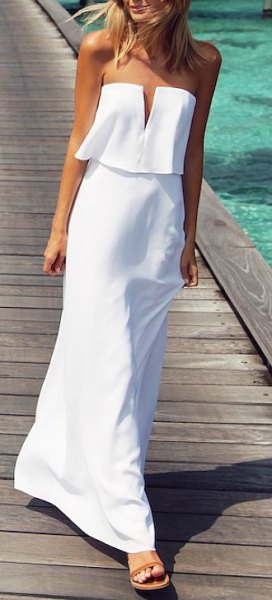 imitated white two-piece summer dress