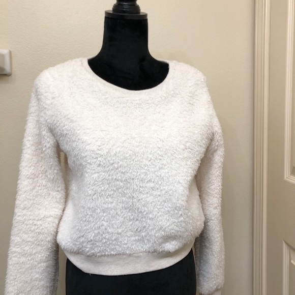 Abercrombie & Fitch Sweaters | White Fluffy Sweater | Poshma