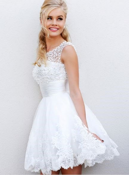 Flower pattern from white lace tulle dress