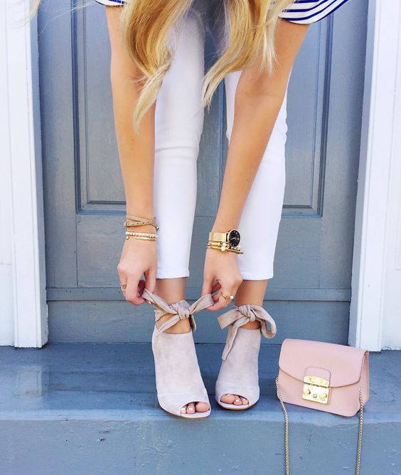 white open toe jeans and white jeans