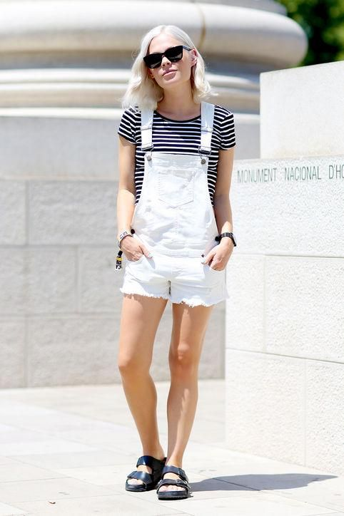 12 Cute Ways To Style Overalls This Summer | White overalls .