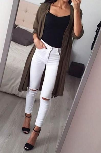 New How To Wear White Pants Skinny Jeans Outfit Ideas | White .