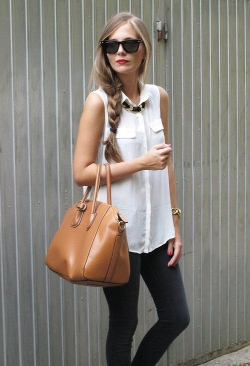How to Style White Sleeveless Blouse for Women - FMag.c