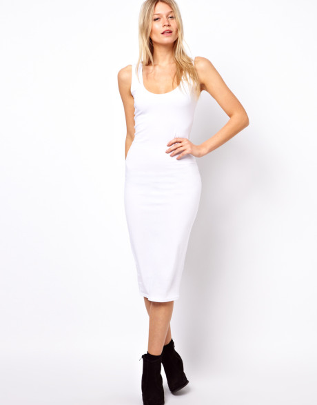 white armored dress minimally casual