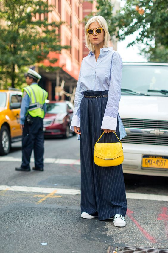 yellow blue outfit bag yellow